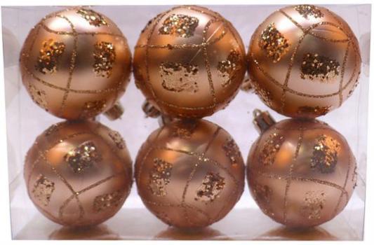 Набор шаров Новогодняя сказка 972936 золотой 6 см 6 шт пластик набор шаров новогодняя сказка 971970 синий 6 см 6 шт стелко