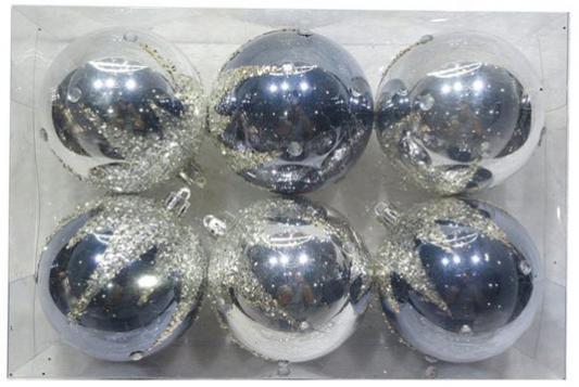Набор шаров Новогодняя сказка 972925 серый 6 см 6 шт пластик набор шаров 6 см monte christmas набор шаров 6 см