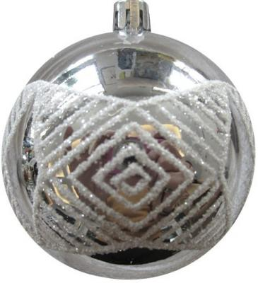 Набор шаров Новогодняя сказка 972931 серебро 6 см 6 шт пластик набор шаров пластик 100мм 2шт ледяное золото