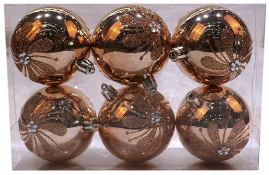 Набор шаров Новогодняя сказка 972933 розовое шампанское 7 см 6 шт пластик набор шаров новогодняя сказка 971970 синий 6 см 6 шт стелко