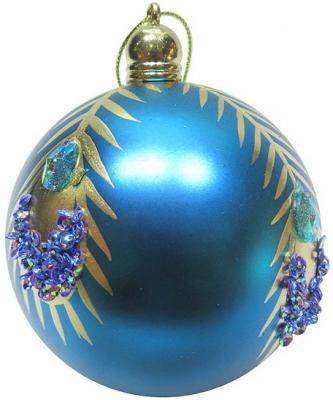 Набор шаров Новогодняя сказка 972917 голубой 8 см 3 шт пластик елочные украшения новогодняя сказка мишка голубой 8 5 см 4 шт пластик 97714
