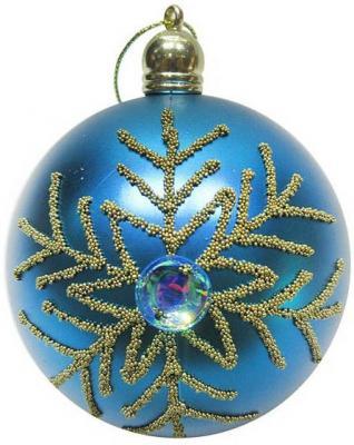 Набор шаров Новогодняя сказка 972916 голубой 8 см 3 шт пластик
