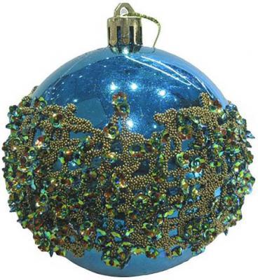 Купить Набор шаров Новогодняя сказка 972920 голубой 8 см 3 шт пластик, Елочные украшения