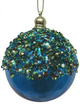 Набор шаров Новогодняя сказка 972919 голубой 8 см 3 шт пластик
