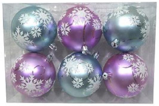 Набор шаров Новогодняя сказка 972913 разноцветный 8 см 6 шт пластик набор шаров 60мм 9шт пластик в тубе золото