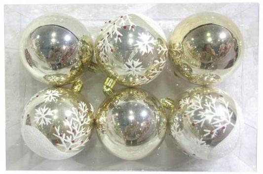 Набор шаров Новогодняя сказка 972888 золотой 8 см 6 шт пластик набор шаров новогодняя сказка 971970 синий 6 см 6 шт стелко