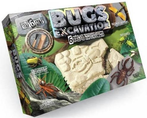 Набор для раскопок ДАНКО-ТОЙС Bugs Excavation. Насекомые (жуки  стрекоза)