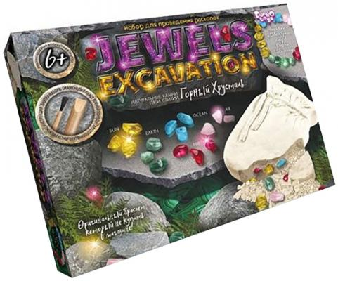 Набор для раскопок ДАНКО-ТОЙС Jewerly Excavation - Горный хрусталь JEX-01-01 322688 bwl 01 tyrannosaurus dinosaur skeleton model excavation archaeology toy kit white