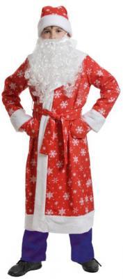Карнавальный костюм Карнавалофф Дед мороз детский, ткань-плюш M до 10 лет 7005-М 92255