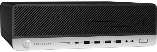 Системный блок HP EliteDesk 800 G3 i7-7700 3.6GHz 8Gb 256Gb SSD HD630 DVD-RW Win10Pro клавиатура мышь серебристо-черный 1KB26EA системный блок hp z440 e5 1620v4 3 5ghz 16gb 256gb ssd dvd rw win10pro клавиатура мышь черный y3y38ea
