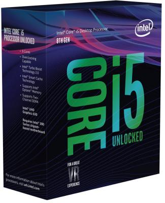 Процессор Intel Core i5-8600K 3.6GHz 9Mb Socket 1151 v2 BOX без кулера процессор intel core i5 6400 2 7ghz 6mb socket 1151 box