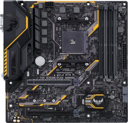 Мат. плата для ПК ASUS TUF B350M-PLUS GAMING Socket AM4 AMD B350 4xDDR4 2xPCI-E 16x 1xPCI-E 1x 6xSATAIII mATX Retail 90MB0UU0-M0EAY0 asus a88xm plus matx