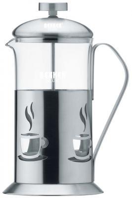 Чайник заварочный Bekker De Luxe стальной 0.6 л металл/стекло BK-362 чайник bekker de luxe металлический 2 8 л bk s614