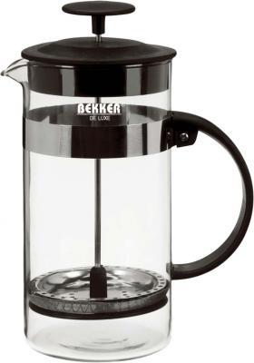 Френч-пресс Bekker DeLuxe BK-390 чёрный 0.8 л стекло