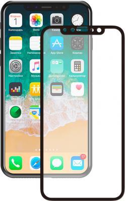 Защитное стекло прозрачная Deppa 62393 для iPhone X 0.3 мм черный