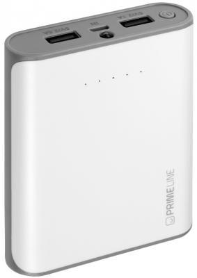 Внешний аккумулятор Deppa Prime Line 8000mAh 2.5A белый 3351 аккумулятор red line r 8000 8000mah grey ут000010268