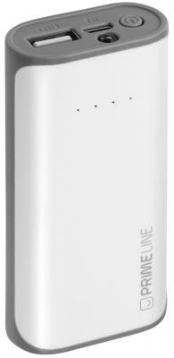 Внешний аккумулятор Deppa Prime Line 4000mAh 1A белый 3350 аккумулятор nobby slim 025 001 4000 mah usb 1 2а black 09282