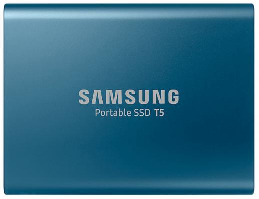 """Внешний жесткий диск 1.8"""" USB3.1 250Gb Samsung T5 синий MU-PA250B/WW"""