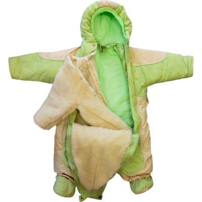 Купить Комбинезон-транформер Золотой Гусь Кроха (мех/зеленый), Золотой гусь, 74 см, полиэстер, для мальчика, зима, Верхняя одежда для детей