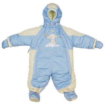 Купить Комбинезон-транформер Золотой Гусь Кроха (мех/голубой), Золотой гусь, 74 см, полиэстер, для мальчика, зима, Верхняя одежда для детей