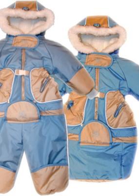 Купить Комбинезон-транформер Золотой Гусь Зимушка (мех/голубой), Золотой гусь, 74 см, таслан, для мальчика, зима, Верхняя одежда для детей