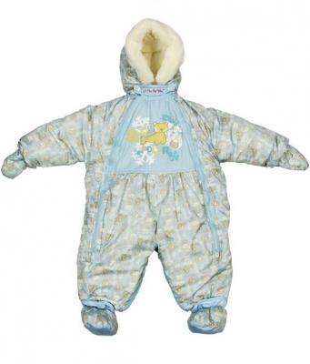 Купить Комбинезон-транформер Золотой Гусь Снежок (голубой), Золотой гусь, 74 см, полиэстер, для мальчика, зима, Верхняя одежда для детей
