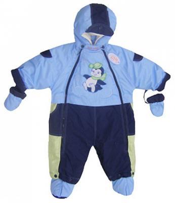 Купить Комбинезон-транформер Золотой Гусь Малыш (мех/голубой), Золотой гусь, 74 см, полиэстер, для мальчика, зима, Верхняя одежда для детей