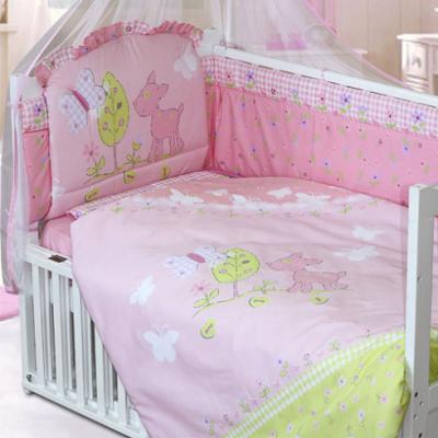 золотой гусь little friend 120х60 7 предметов Постельное бельё Золотой Гусь Little Friend (розовый)