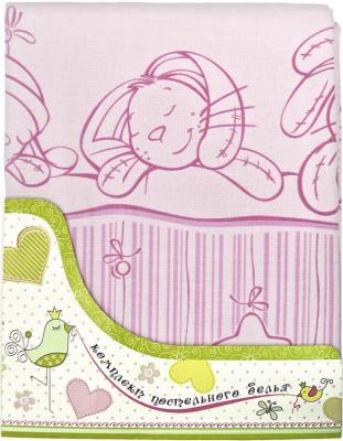 Набор постельного белья Золотой Гусь Зая-Зай (розовый) золотой гусь комплект белья в кроватку зая зай 7 предметов цвет голубой 60 см x 120 см