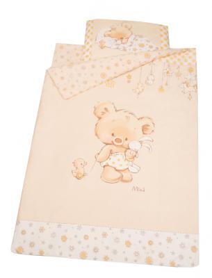 Набор постельного белья Золотой Гусь Mika (сатин/молочный), 98 х 145 см, Сменное постельное белье  - купить со скидкой