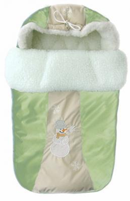 Конверт меховой Золотой Гусь Снежинка (зелёный) конверт детский золотой гусь золотой гусь конверт меховой снежинка розовый