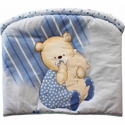 Бампер в кроватку Золотой Гусь Мишутка (голубой) бортик в кроватку золотой гусь мишутка розовый 4046