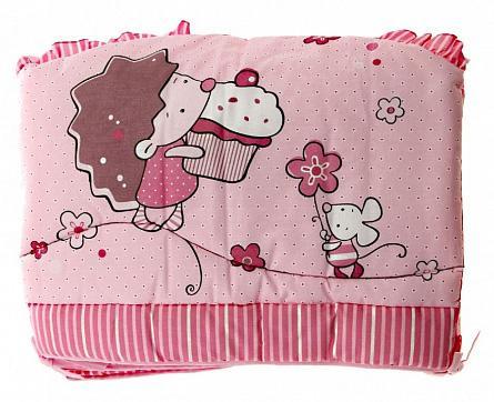 Бампер в кроватку Золотой Гусь Ёжик Топа-Топ (розовый) комплект в кроватку золотой гусь ежик топа топ 8 предметов розовый 1286