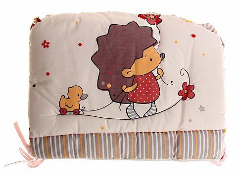 Бампер в кроватку Золотой Гусь Ёжик Топа-Топ (бежевый) цена