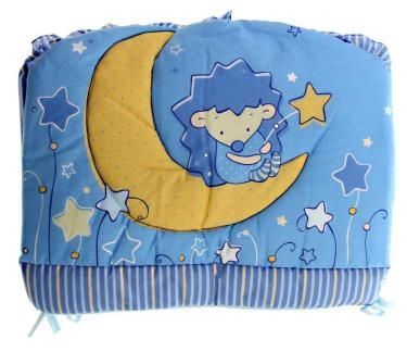 Бампер в кроватку Золотой Гусь Ёжик Топа-Топ (голубой)