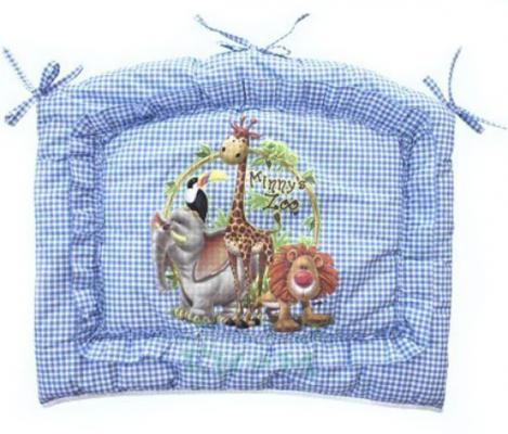 Бампер в кроватку Золотой Гусь Алёнка (голубой) комплект в кроватку золотой гусь алёнка 7 предметов зелёный 1014