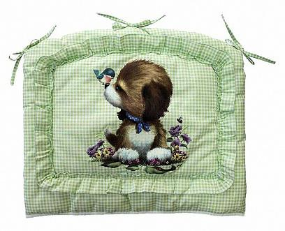 Бампер в кроватку Золотой Гусь Алёнка (зелёный) комплект в кроватку золотой гусь алёнка 7 предметов зелёный 1014
