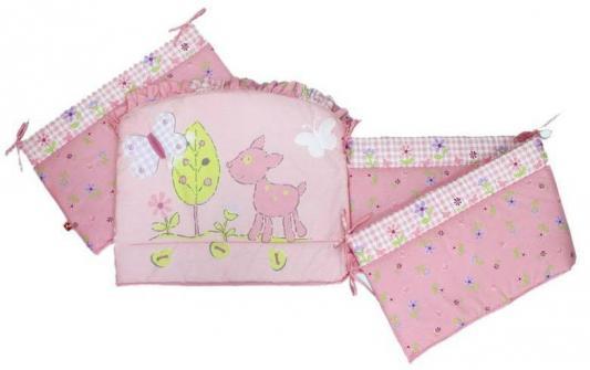 золотой гусь little friend 120х60 7 предметов Бампер в кроватку Золотой Гусь Little Friend (розовый)