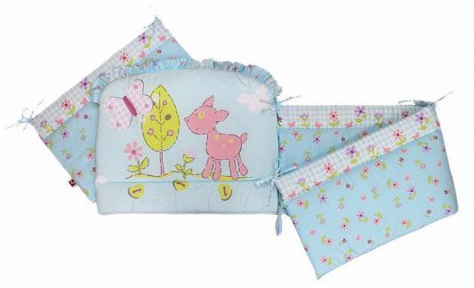 Бампер в кроватку Золотой Гусь Little Friend (голубой) комплект в кроватку золотой гусь little friend 7 предметов бежевый 1263