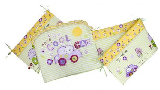 Бампер в кроватку Золотой Гусь Cool Car (зелёный) комплект в кроватку золотой гусь 7 пр cool car розовый