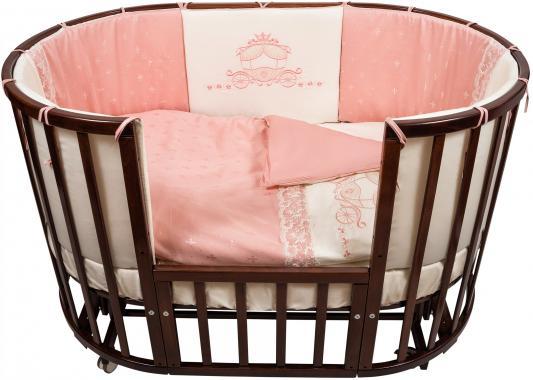 Купить Постельный сет 6 предметов Nuovita Prestigio Pizzo (розовый), 125 х 75 см, Постельные сеты