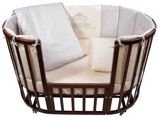 Постельный сет 6 предметов Nuovita Prestigio Atlante (серый) комплекты в кроватку nuovita prestigio atlante 6 предметов