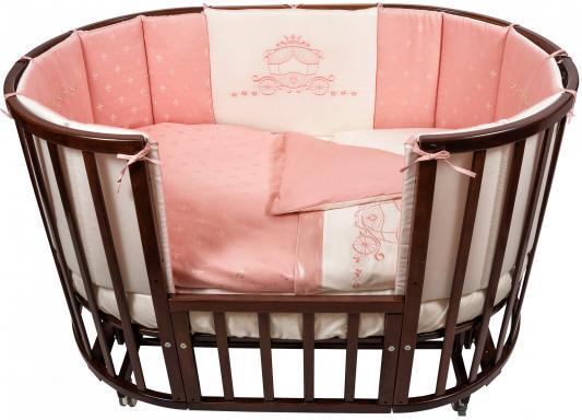 Постельный сет 6 предметов Nuovita Prestigio Atlante (розовый) комплекты в кроватку nuovita prestigio atlante 6 предметов