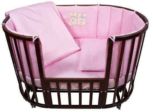 Купить Постельный сет 6 предметов Nuovita Leprotti (розовый), 125 х 75 см, Сменное постельное белье