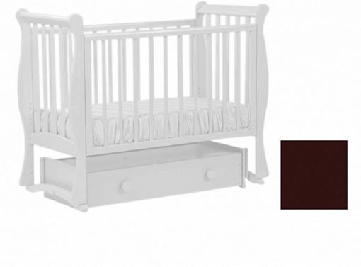 Кровать с маятником Кубаночка-7 БИ 57 (венге), дерево, Кроватки с маятником  - купить со скидкой