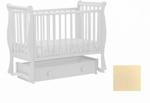 Купить Кровать с маятником Кубаночка-7 БИ 57 (ваниль), дерево, Кроватки с маятником