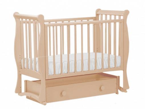 Купить Кровать с маятником Кубаночка-7 БИ 57 (слоновая кость), бук, Кроватки с маятником