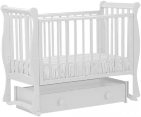 Кровать с маятником Кубаночка-7 БИ 57 (белый), бук, Кроватки с маятником  - купить со скидкой