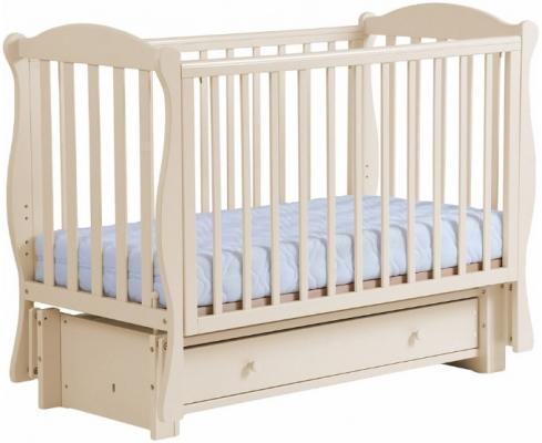 Кровать с маятником Кубаночка-6 БИ 42 (слоновая кость) кроватка с маятником кубаночка 1 би 37 2 слоновая кость
