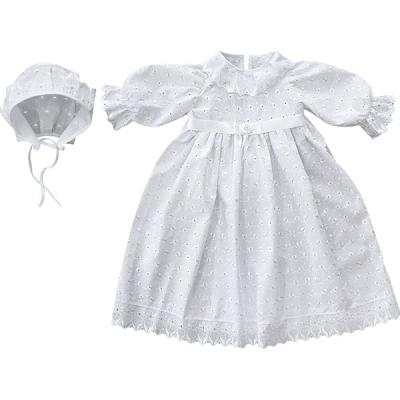 Крестильное платье и чепчик для девочки Золотой Гусь 11191 платье крестильное иришка 24 26